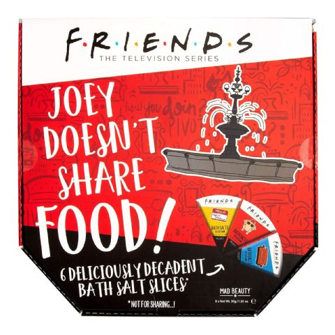 Friends Joey Doesn't Share Food! Pizza Box Bath Salts Gift Set Mad Beauty 240g